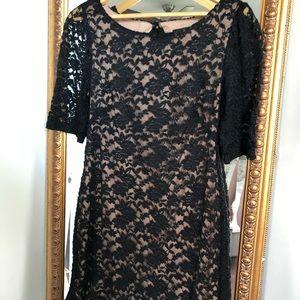 Beautiful black nude dress